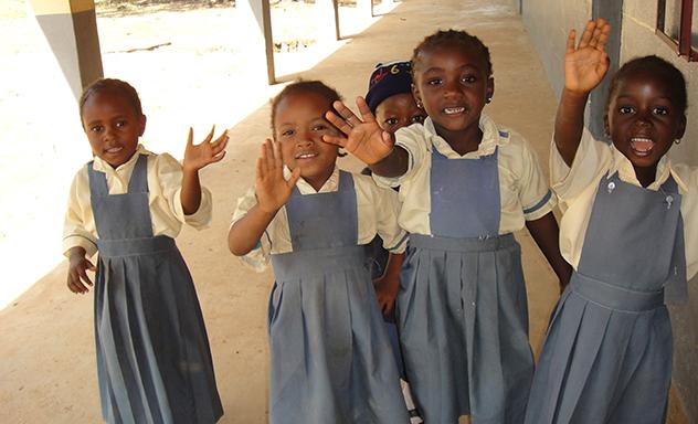 Schoolkinderen in Mangu (Nigeria) oktober 2016